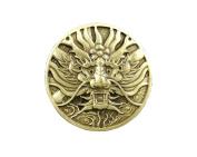 Screw Back Brass Japan Dragon Concho Coin Wallet Biker Trucker LeatherCraft