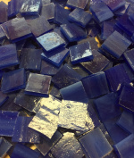 1.3cm Deep Blue Stained Glass Mosaic Tiles