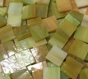 1.3cm Light Green Stained Glass Mosaic Tiles