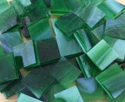 1.3cm Green Stained Glass Mosaic Tiles