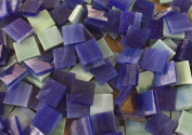 1.3cm Green Blue & Deep Blue Stained Glass Mosaic Tiles
