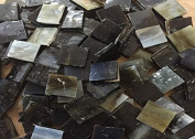 1.3cm Shades of Brown Stained Glass Mosaic Tiles