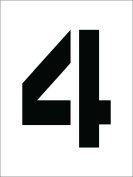 National Marker Corp. PMC8-4 Stencil, Number 4, 20cm