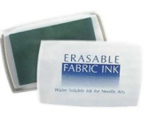 Erasable Fabric Ink Pad : Water Soluble Ink for Needle Arts : Aqua