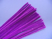 Trimits ST17   Purple Chenille Straight Pipe Cleaners   6mm x 30cm   100 pack