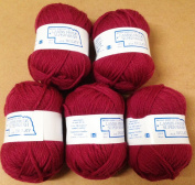 Yarn Place Brown Sheep Yarn Lambs Pride Superwash Bulky Frosted Fuchsia 5 skeins - 1st Quality -