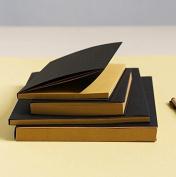 Black Kraft Cover Sketchbook / Journal / Diary / Note Book With Blank Kraft Paper (32