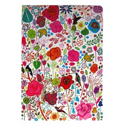 A5 Writing Doodle Book - Flower Art - 48 Pages - 8.3 X 5.8 - by Quire
