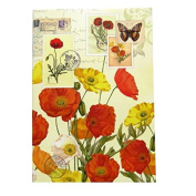 A6 Writing Doodle Book - Poppies- 48 Pages - 6 X 4 - by Quire