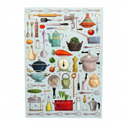 A6 Writing Doodle Book - Kitchen and Cooking - 48 Pages - 6 X 4 - by Quire