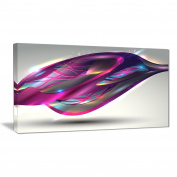 """Designart PT6752-100cm - 80cm Purple Associative Illustration Contemporary Art"""" Canvas Print, Pink, 100cm x 80cm"""