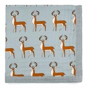 Milkbarn Bib Lovey Blanket - Blue Buck