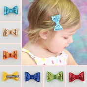 Skuleer(TM)24 Colours Kids Fashion Hair Accessories For Girls, Baby Hair Clips, Hair Bow With Clip, Boutique Hair Bows, Kids Headwear