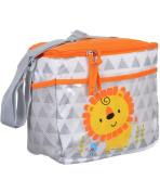 "Tender Kisses ""Lion Triangles"" Bottle Bag - grey, one size"