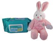 Jesus Loves Me Singing Bunny and Baby Wipes Bundle - Two Items