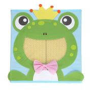 NEWSTYLE Foldable Kids' Toy Storage Bin Box - Cartoon Children Toys Chest and Closet Organiser - Simling Frog