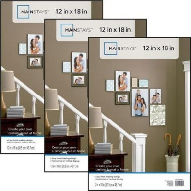 Classic Styles Mainstays Decor 12x18 Format Picture Frame, Set of 3