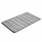 YunNasi Memory Foam Anti-slip Safety Bathroom Living Room Mat, Storm Grey