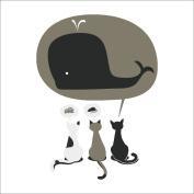 Amaonm® Hot Fashion Three Cute Cartoon Cat Wall Stickers Murals, Nursery Decor, Wall Decor, Kids Bedroom Wall Decals Baby Boys and Girls Room Wall Decal Decor Livingroom Decorations art Decals