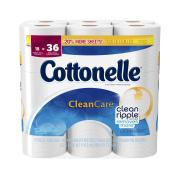 Cottonelle CleanCare Toilet Paper Double Rolls - 18 CT