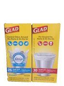 Glad Small 15.1l Trash Bags-Febreze Fresh Clean Odour Shield Scent and Unscented-Total 56 Bags