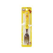 San-x Cute Rilakkuma Baby Feeding Solid Utensil Fork : Yellow