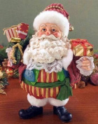 Retired 2007 Clothtique Whimsy *Jolly Old Elf* Santa Possible Dreams
