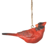 8.9cm Country Cabin Red Cardinal Bird Christmas Ornament