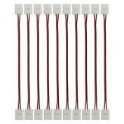 elcPark 10PCS Free Solder 2 Pin Wire Connector Cable Adapter for Single Colour SMD 3528 LED Strip Strip to Strip