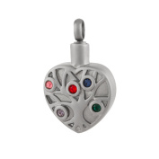 Perfect Memorials Jewelled Tree Of Life Stainless Steel Cremation Jewellery