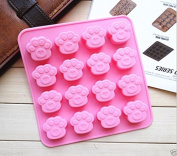 Ainest Paws Dog Cat Silicone Bakeware Mould Chocolate Mould Cookie Candy Baking Tin Pan