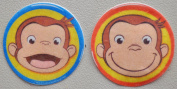 Curious George Edible Wafer Cupcake / Cookie Toppers Licenced by Decopac ~ Pre Cut 6.4cm Round BUY TWO GET THIRD FREE!