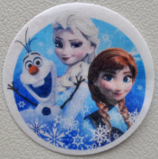 Disney's Frozen Edible Wafer Cupcake / Cookie Toppers Licenced by Decopac ~ Pre Cut 6.4cm Round BUY TWO GET THIRD FREE!