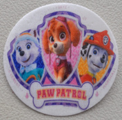 Paw Patrol Edible Wafer Cupcake / Cookie Toppers Licenced by Decopac ~ Pre Cut 6.4cm Round BUY TWO GET THIRD FREE!