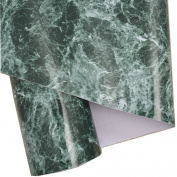 Green Granite Look Marble Gloss Film Vinyl Self Adhesive Counter Top Peel and Stick Wall Decal 30cm x 200cm