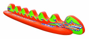 WOW Sports 6 Person Commercial Grade Pro Edition Towable Dragon Boat, Large, Orange/Green/Yellow