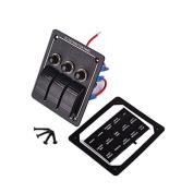 3 Bears DC 12V 3 Gang LED Waterproof Aluminium Rocker Switch Panel Circuit Breaker