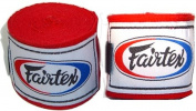 FAIRTEX ELASTIC COTTON HANDWRAPS HW2-460cm -full Length Hand Wraps-black/red/Blue/White
