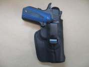 Wilson CQB Commander 1911 11cm IWB Leather In Waistband Conceal Carry Holster BLACK RH