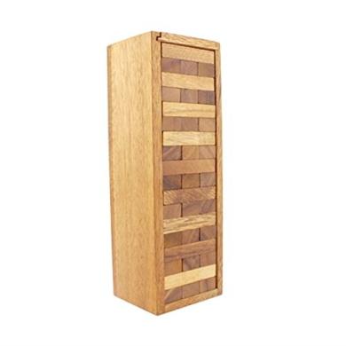 BRAIN GAMES Wooden Tower Game 54 Blocks, L