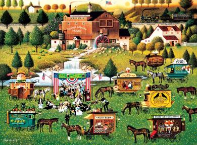 Buffalo Games Rally at Dandelion Mill by Charles Wysocki Jigsaw Puzzle (1000 Piece)