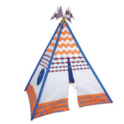 Pacific Play Tents Vintage Cotton Canvas Teepee Playhouse, Multicolor, 45 x 64