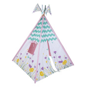 Pacific Play Tents Wild Flowers Cotton Canvas Teepee Playhouse, Multicolor, 45 x 64