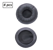 Bingle Ear Cushions leatherette Spare Replacement for Plantronics Supra Plus Encore and Most Standard Size Office Telephone Headsets H251 H251N H261 H261N H351 H351N H361 H361N (4 Pack)