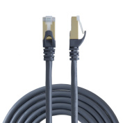 """VeLLBox 10m CAT6A (Category 6A) Double Shielded (SSTP/SFTP) Ethernet Patch Cable Male/Male, 50U""""Gold Plated Contact, SFTP Network Cable, Band Width"""