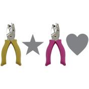 Fiskars 2 Hand Punches Star & Heart