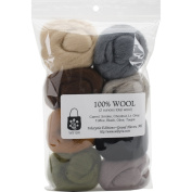 Wistyria Editions Wool Roving (8 Pack), .650ml, Rustic