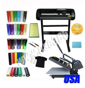 ASC365 Brand 60cm 500g Cutting Plotter New 38cm x 38cm Flat Heat Press Machine T-shirt Heat Transfer Vinyl Weeding Tool KIT