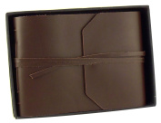 Rustic Genuine Leather Photo Album with Gift Box - Scrapbook Style Pages - Holds 100 4x 6 or 5x 7 Photos - 15cm x 20cm Photo Book