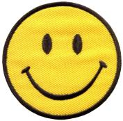 Smiley Face Retro Boho Hippie 70s Fun Smile Applique Iron-on Patch New S-716